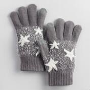 Gray and Ivory Star Tech Gloves