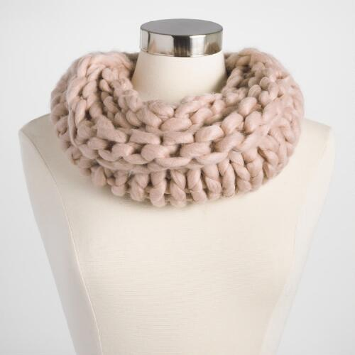 Blush Chunky Knit Snood