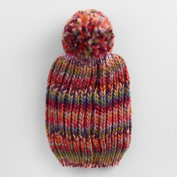 Multicolor Drop Stitch Beanie