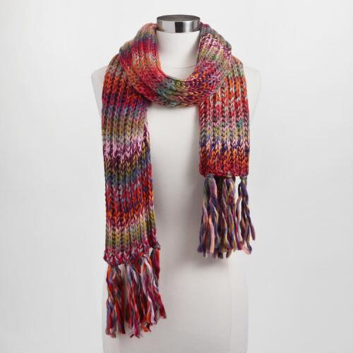 Multicolor Drop Stitch Scarf