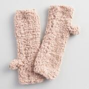Blush Nubby Fingerless Gloves