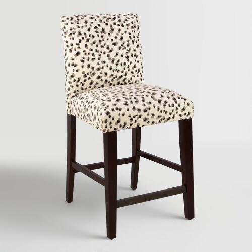 Snow Leopard Kerri Upholstered Counter Stool
