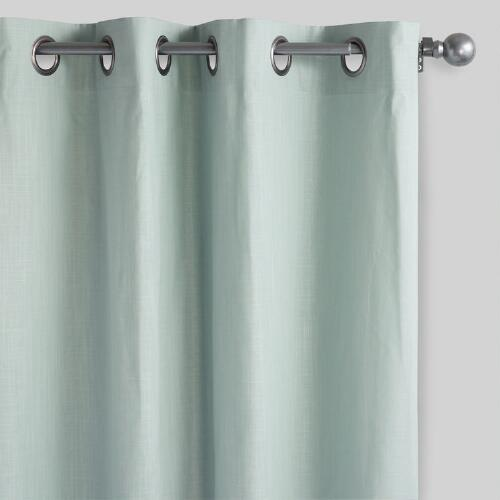 Blue Mist Harlow Grommet Top Cotton Curtains Set of 2