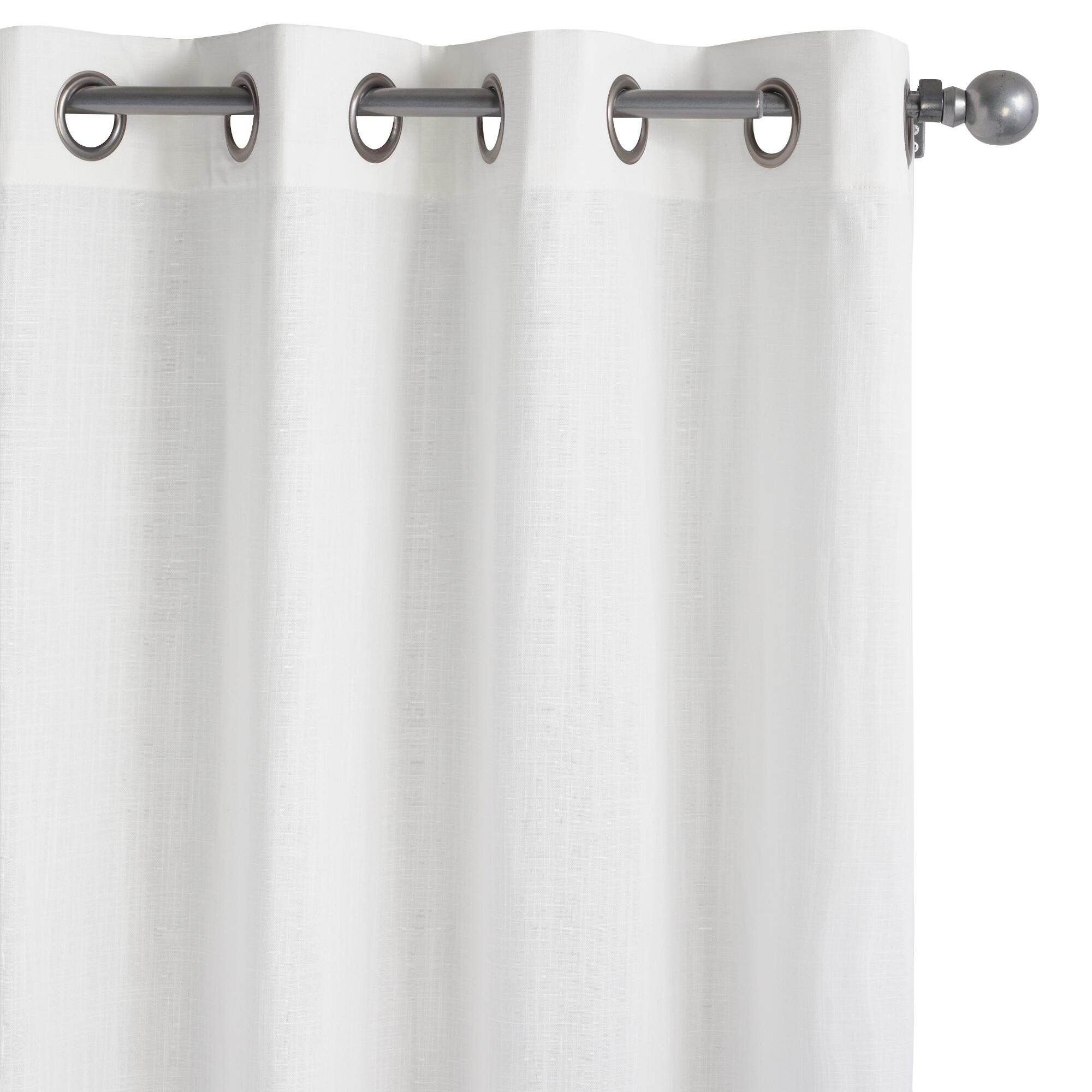 white harlow grommet top cotton curtains set of 2 world