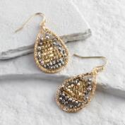 Gold and Hematite Teardrop Earrings