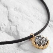 Pyrite Pendant Choker Necklace