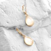 White Opal  Drop Earrings