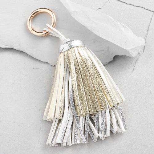 Gold and Silver Tassel Bag Charm