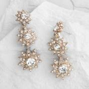 Gold Stars Stud Earrings