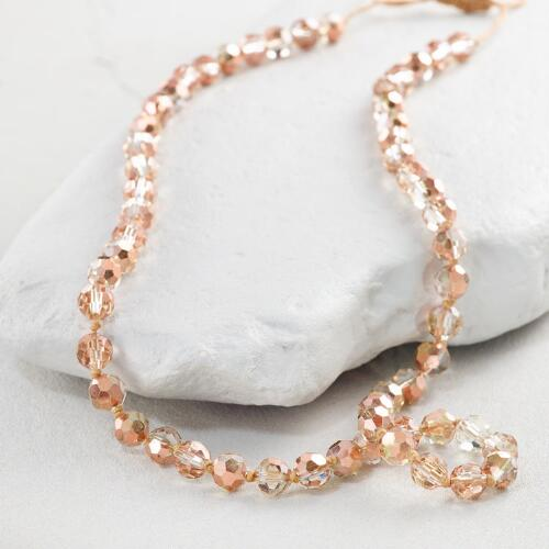 Rose Gold Facet Bead Necklace