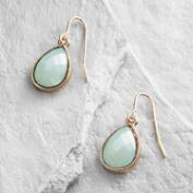 Mint Teardrop Drop Earrings
