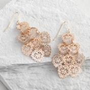 Gold Stamp Chandelier Earrings