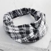 Black and White Plaid Headband