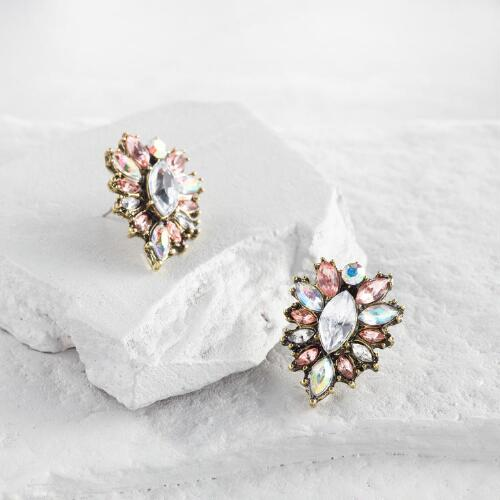 Multicolored Stone Stud Earrings
