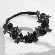 Black Floral Lace Headband