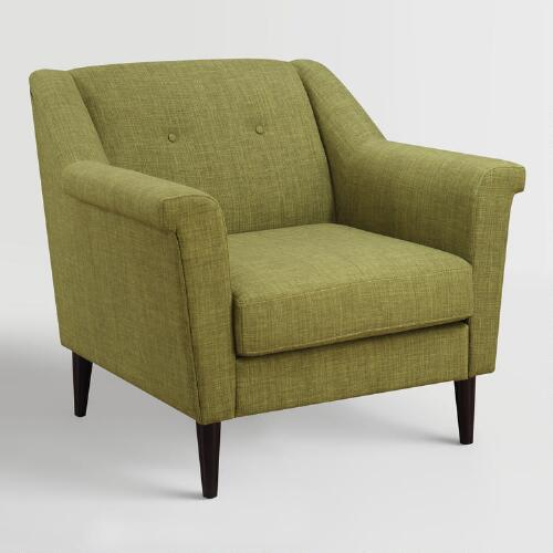 Green Navarre Upholstered Armchair