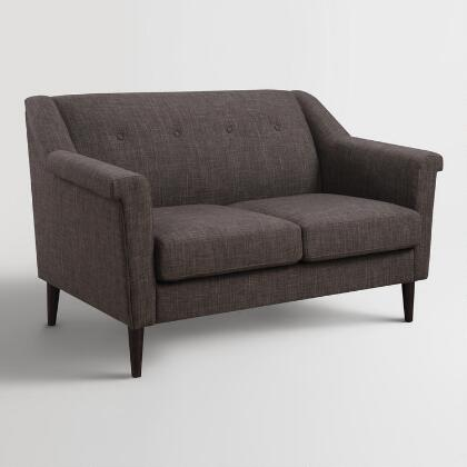Textured Woven Holman Upholstered Love Seat World Market