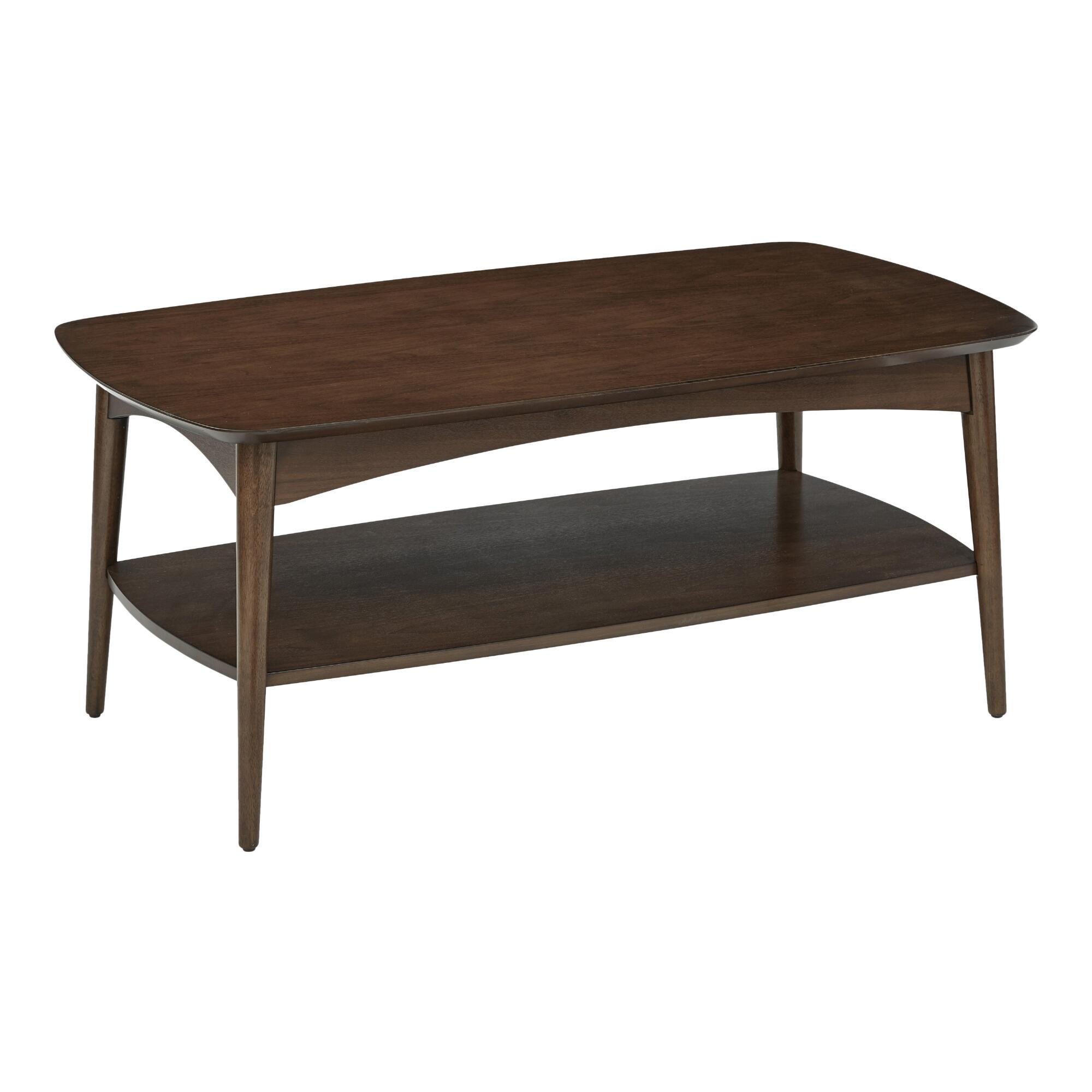 Walnut Brown Wood Brewston Coffee Table World Market