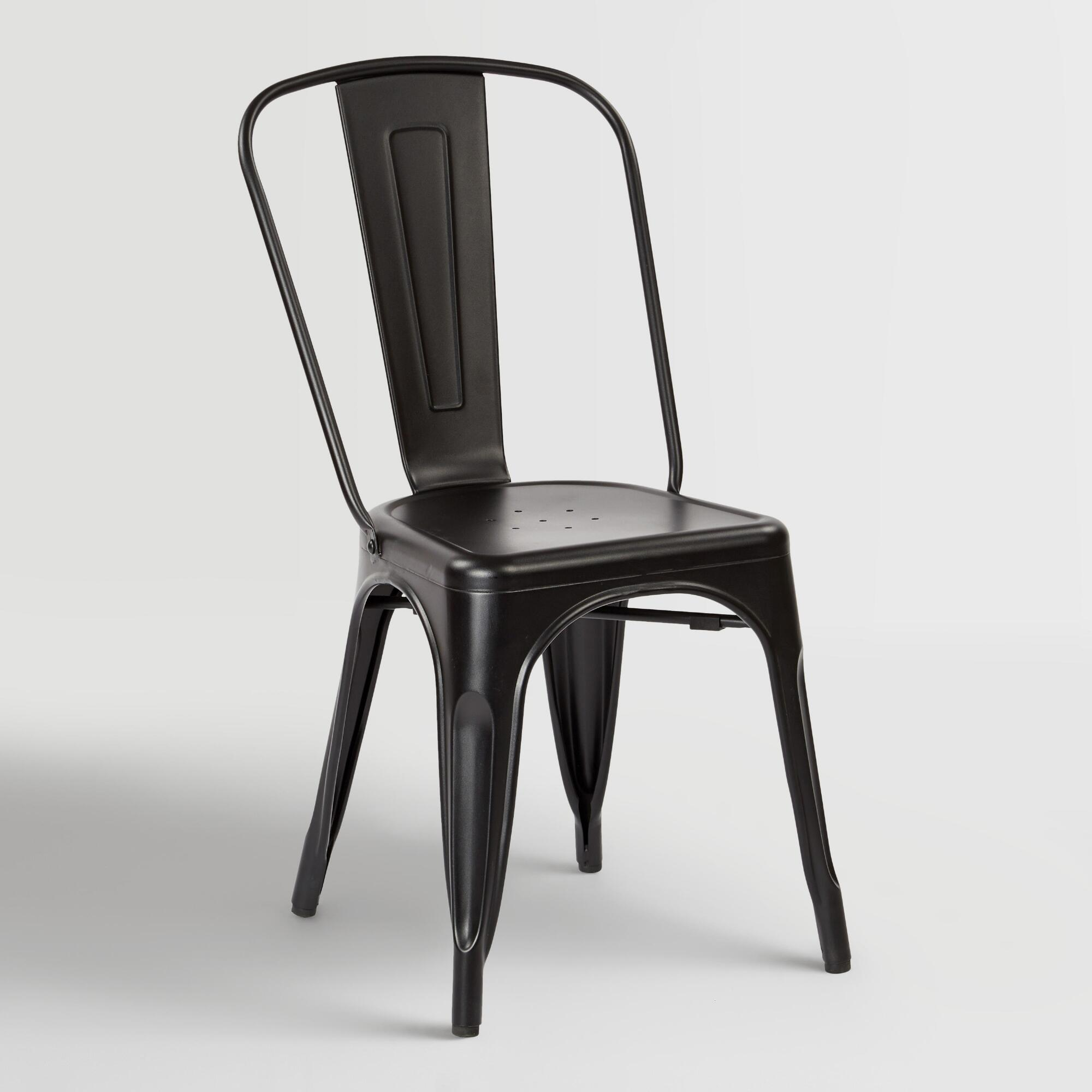 Black metal ira dining chairs set of world market