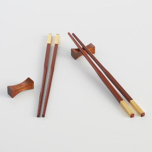 Chopsticks with Rests 2 Piece Boxed Set