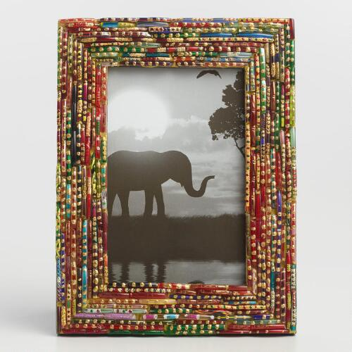 Large Glittered Multicolor Broken  Bangle Frame