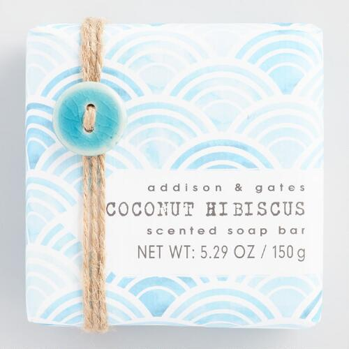 A&G Seaside Coconut Hibiscus Bar Soap