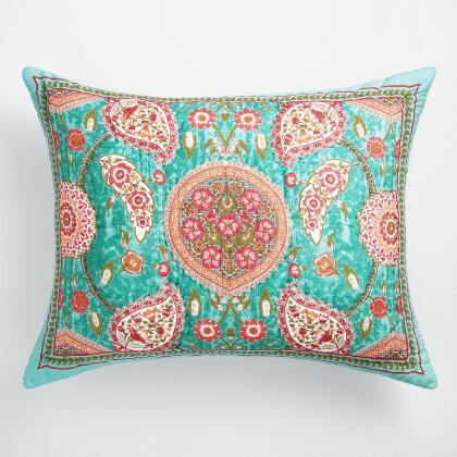 Teal Paisley Amaira Pillow Shams Set of 2