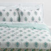 Aqua and Yellow Bhuti Shreya Bedding Collection
