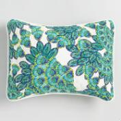 Blue and Aqua Peacock Pillow Shams Set of 2