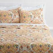 Yellow Damask Bianca Bedding Collection