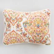 Yellow Damask Bianca Pillow Shams Set of 2
