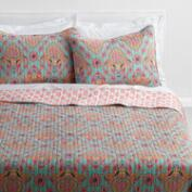 Coral and Aqua Bhuti Priti Bedding Collection