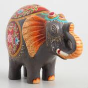 Gray Terracotta Elephant Bank