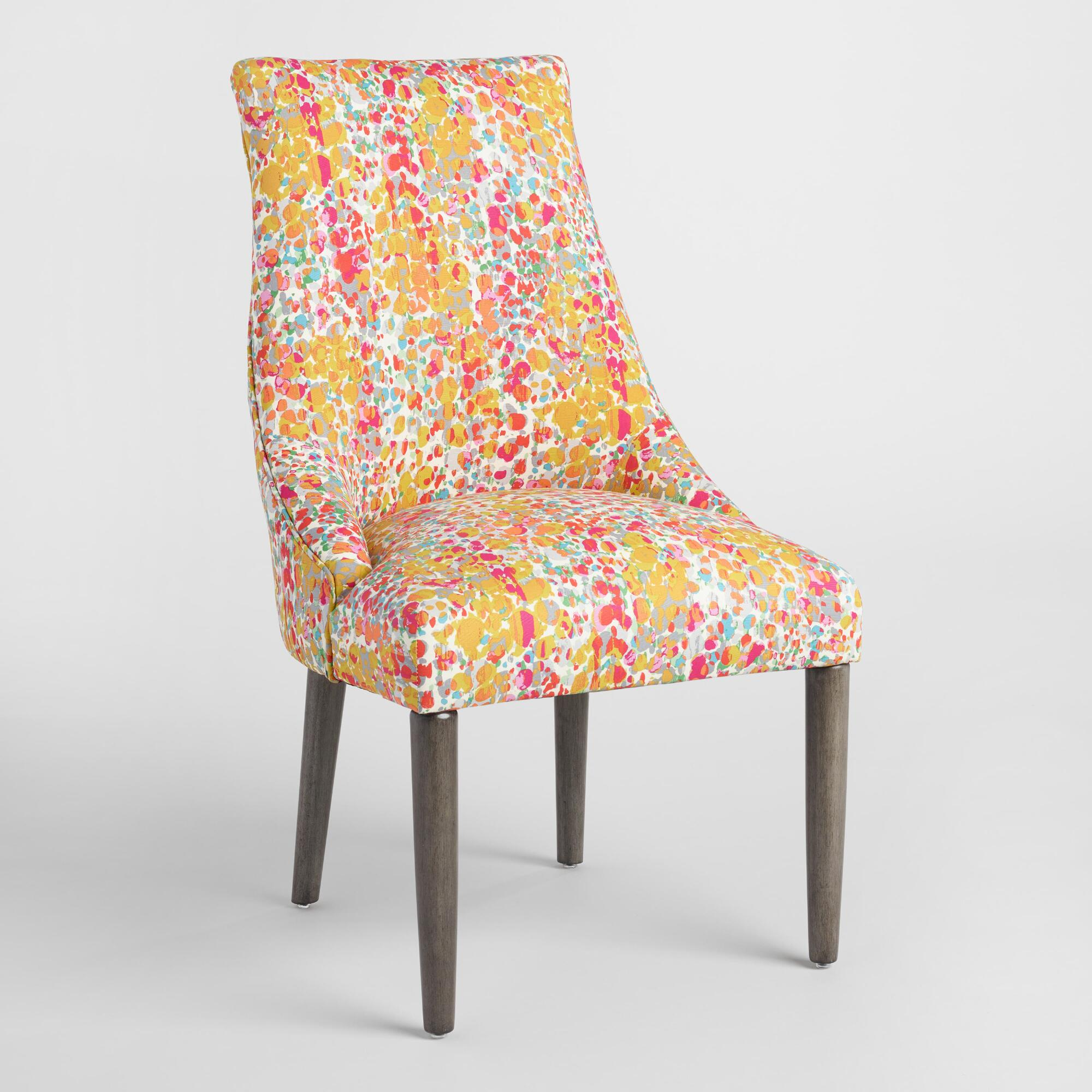world market dining room chairs | Clarisse Portter Upholstered Dining Chairs Set of 2 ...