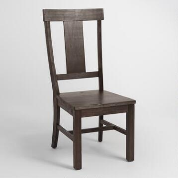 Distressed Wood Kenzie Dining Chair Set of 2