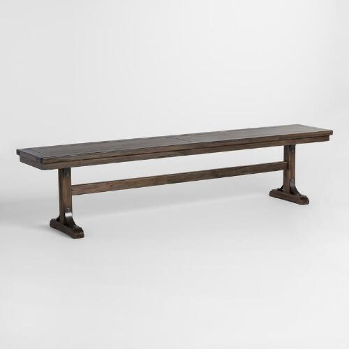 Distressed Wood Kenzie Dining Bench