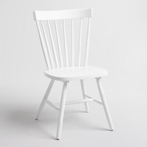 White Wood Stafford Windsor Chairs Set of 2