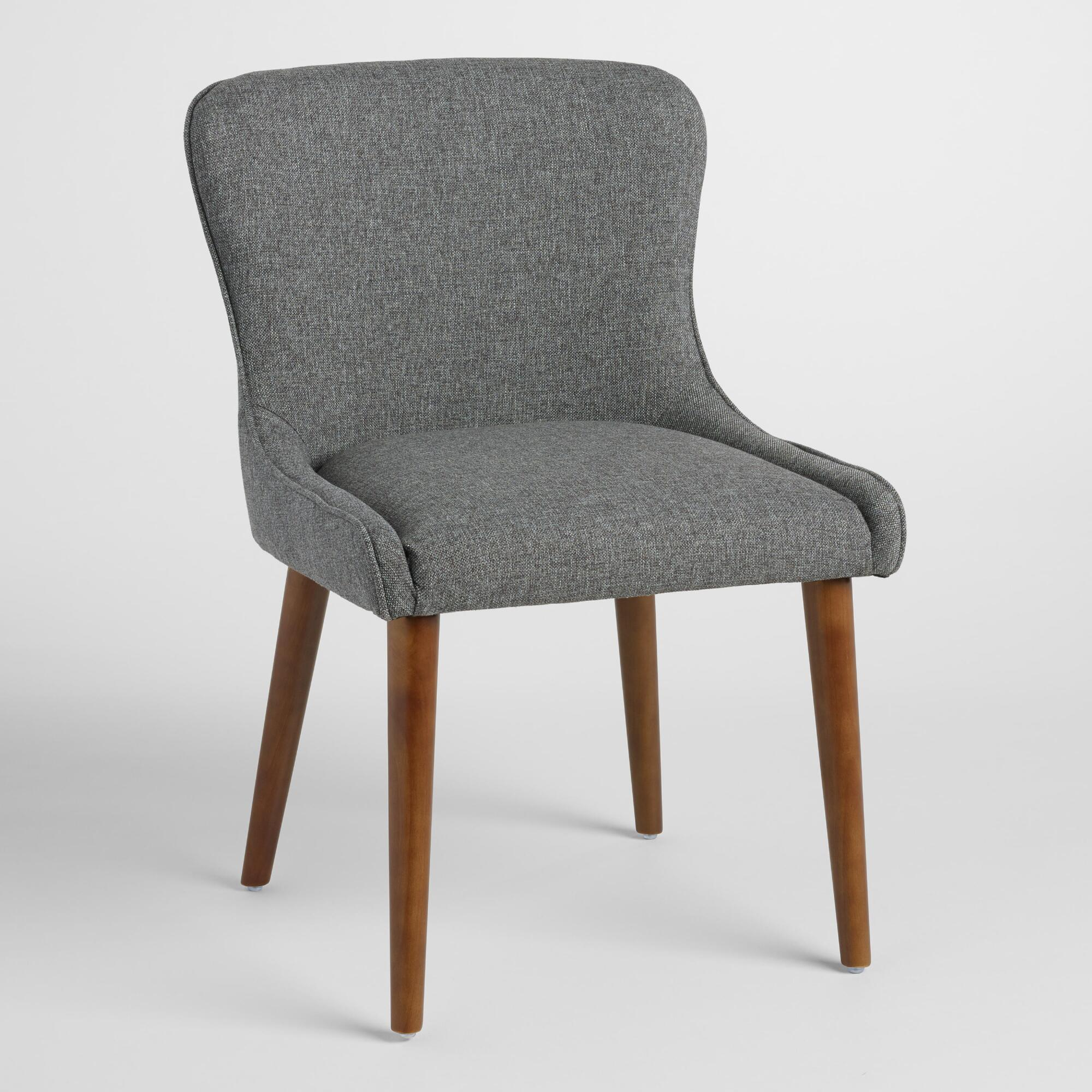 Gray Zarah Petite Wingback Upholstered Chairs Set Of 2