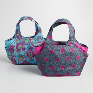 Floral Print and Bloom Print Jane Lunch Bags Set of 2
