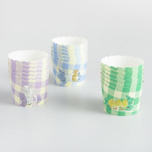 Easter Icons Gingham Standing Cupcake Liners 24 Count