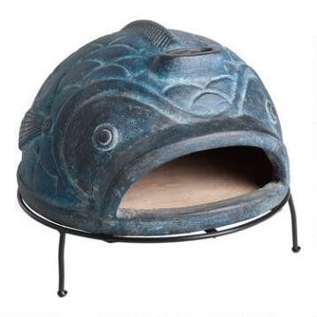 Blue Fish Terracotta Pizza Oven