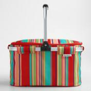 Coastal Stripe Insulated Collapsible Tote Bag