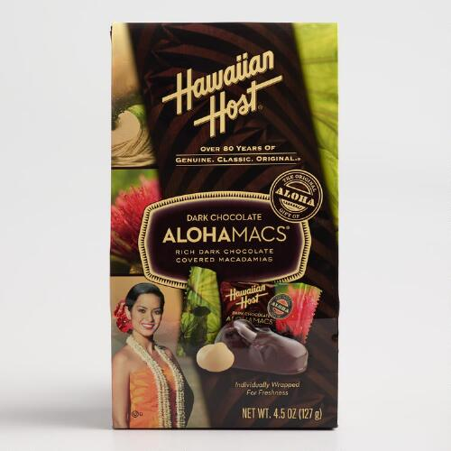 Hawaiian Host Dark  Chocolate Alohamacs