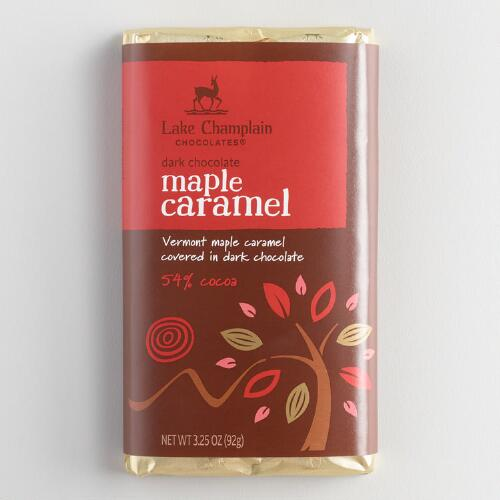 Lake Champlain Dark Chocolate Maple Caramel Bar