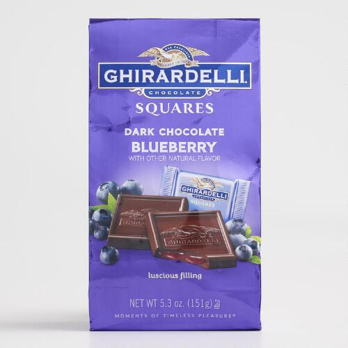 Ghirardelli Dark Chocolate Blueberry Squares Bag