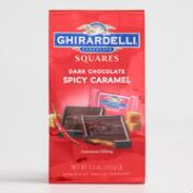 Ghirardelli Dark Chocolate Spicy Caramel Squares Bag