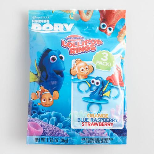 Finding Dory Lollipop Rings 3 Pack