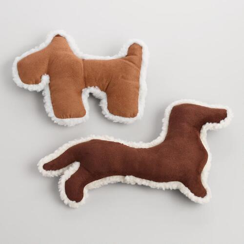 Scottie and Dachshund Fabric Dog Toys Set of 2