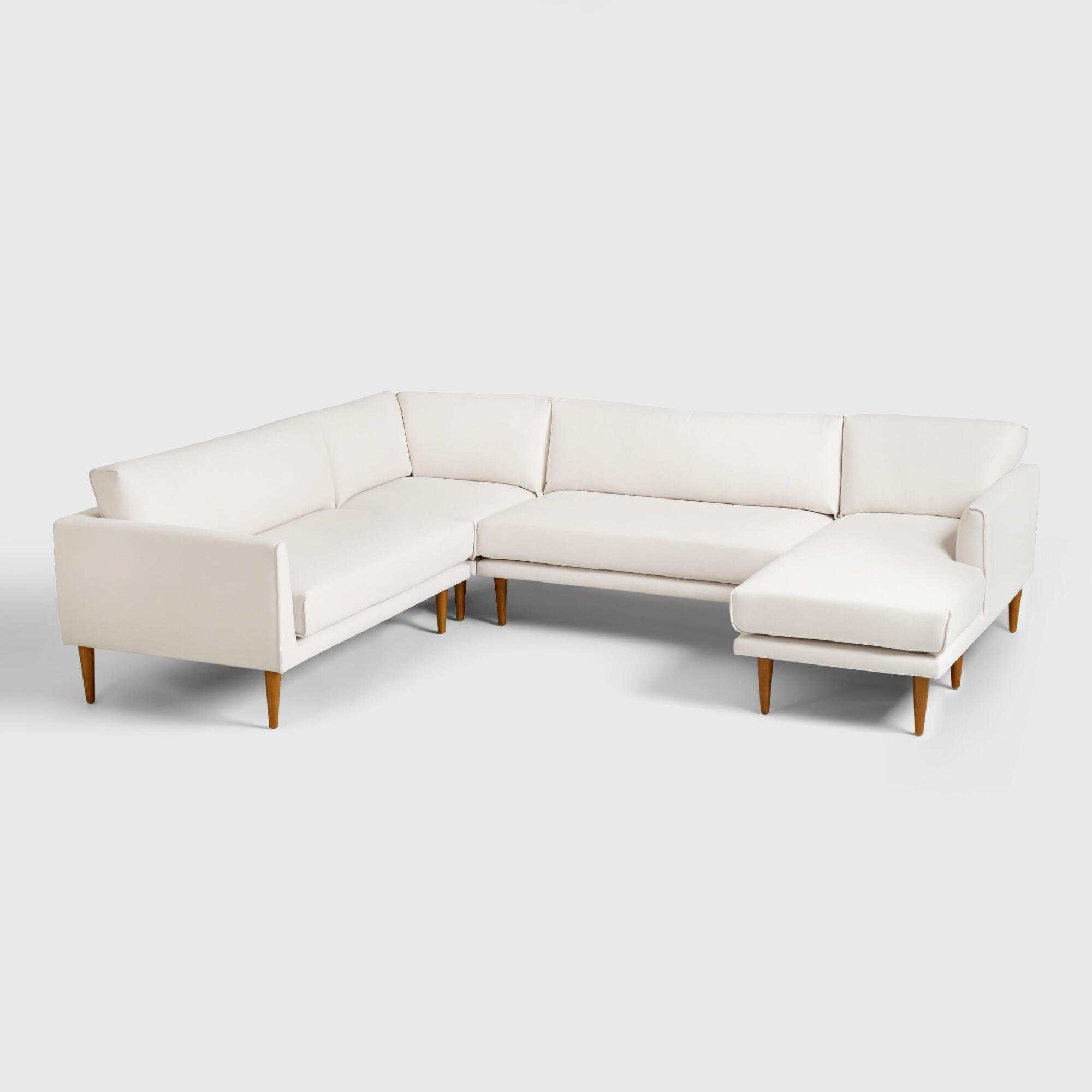 Cost Plus World Market Ivory Nica Sectional Sofa