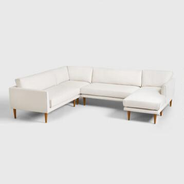 Ivory Nica Sectional Sofa Collection